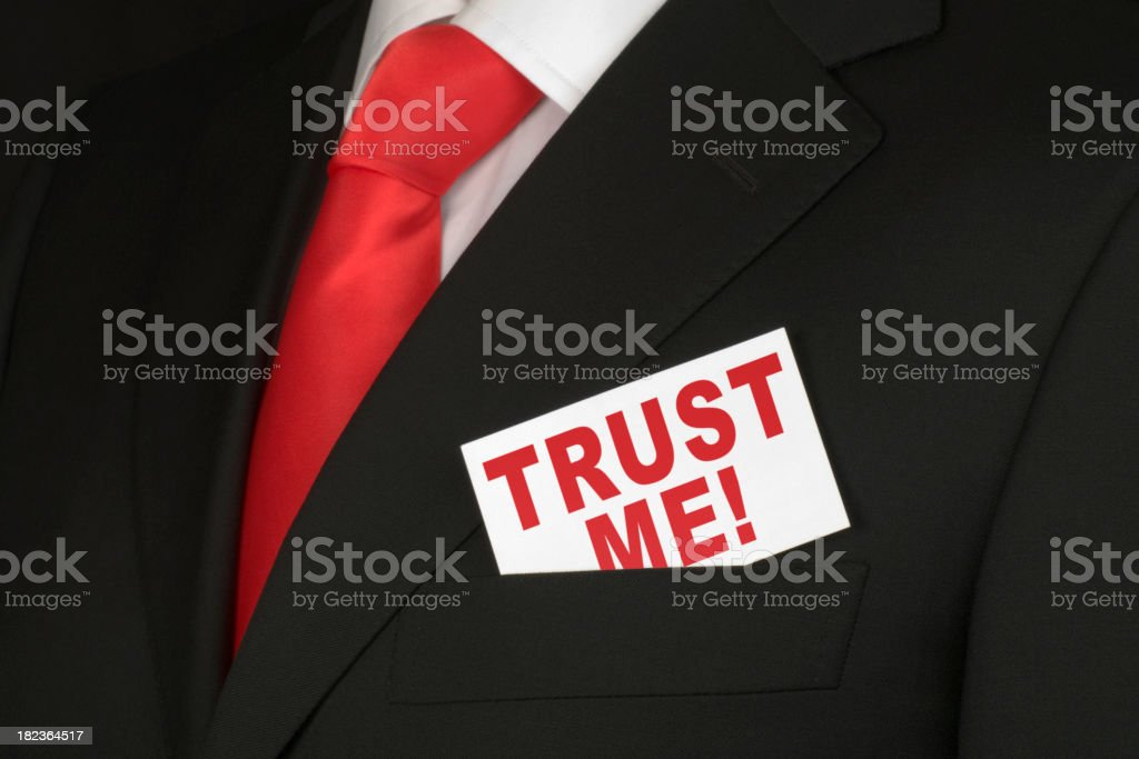 Trust Me XL royalty-free stock photo