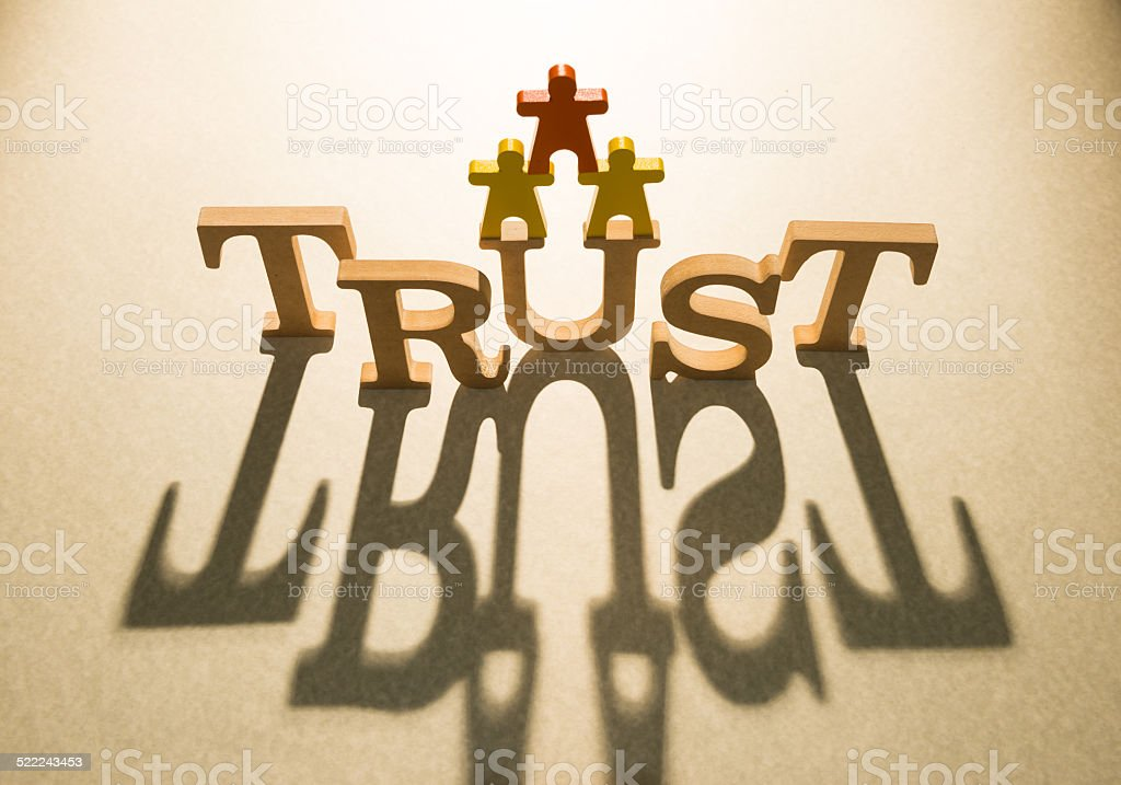 Trust people concept and shadow stock photo