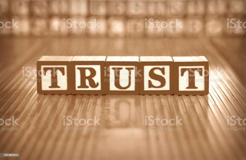 trust  (#14 of series) stock photo