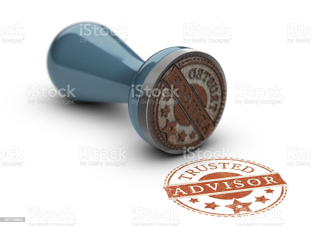 Trusted Advisor Concept stock photo
