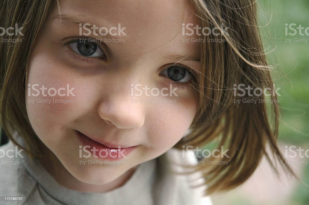 Trusting Eyes Of A Little Girl royalty-free stock photo