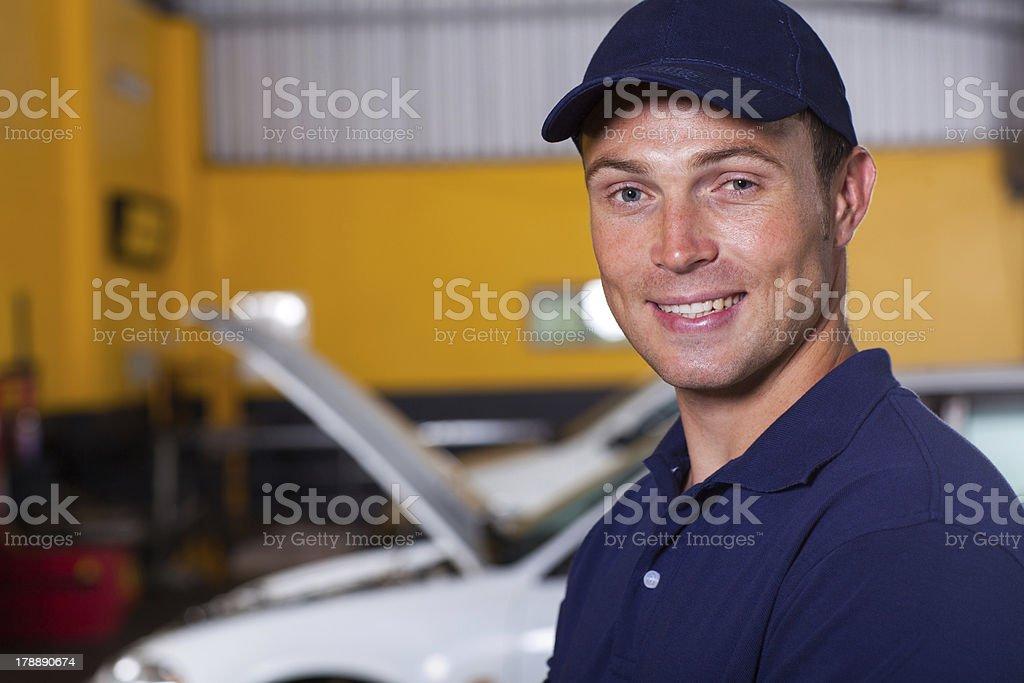 trustworthy auto mechanic stock photo