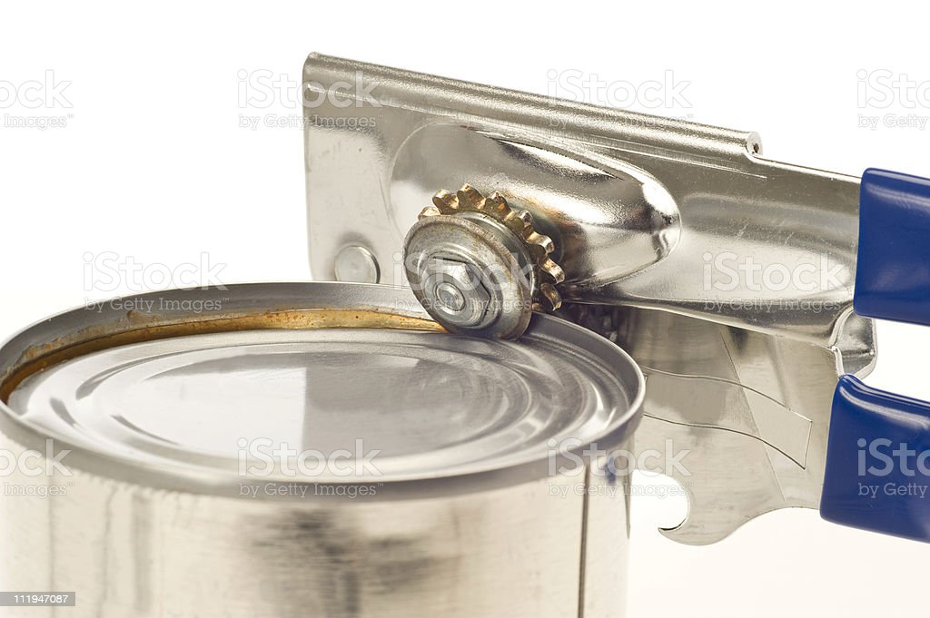 Trusty Old Can Opener stock photo