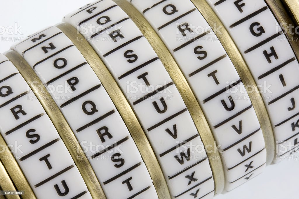 Truth - keyword set in combination puzzle box,   Cryptex royalty-free stock photo
