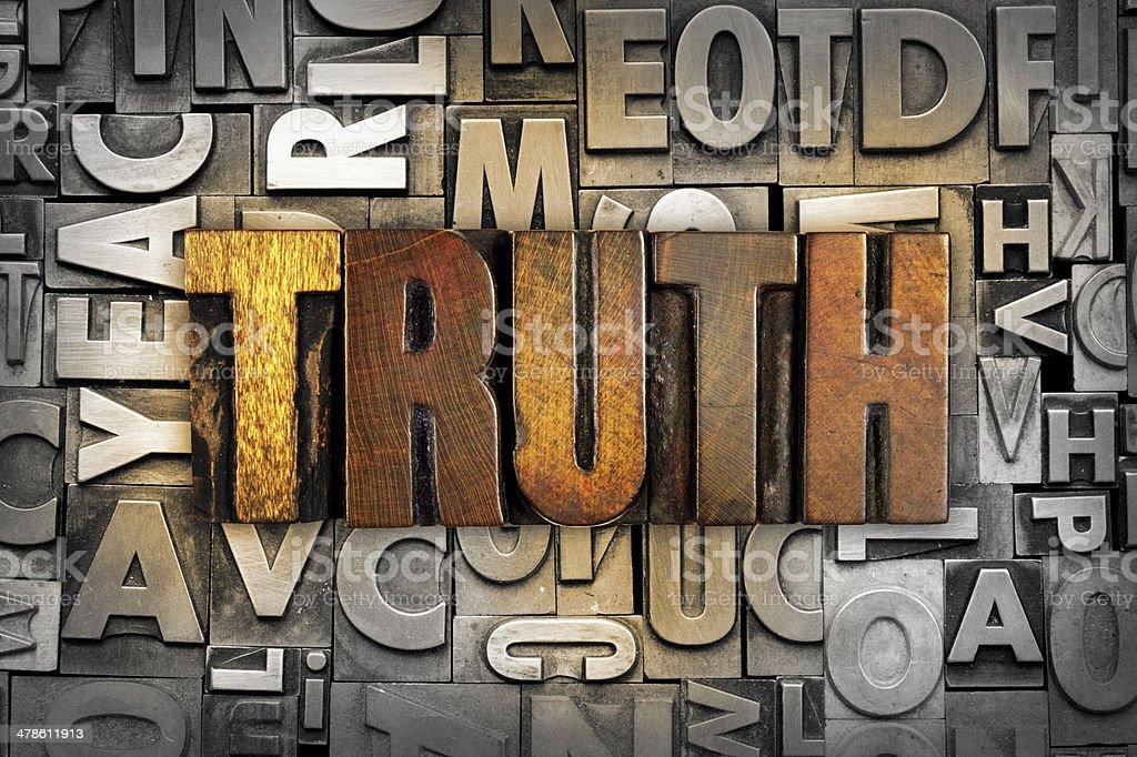Truth stock photo