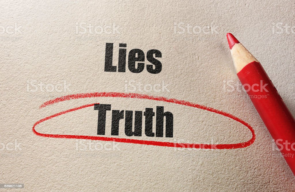 Truth red circle stock photo