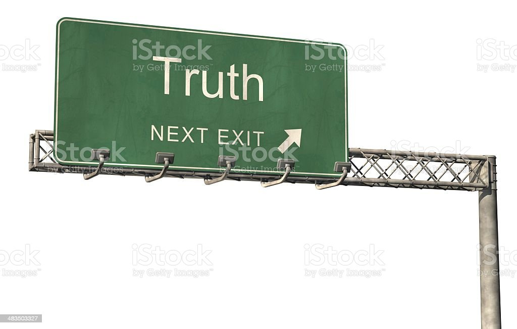 Truth Road Sign 2 royalty-free stock photo