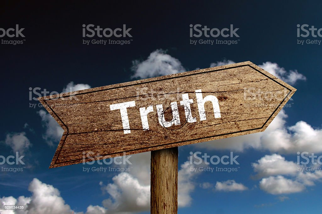 Truth Road Sign stock photo