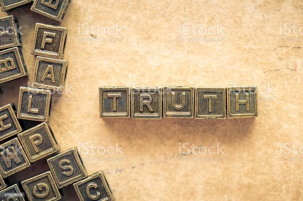 truth word stock photo