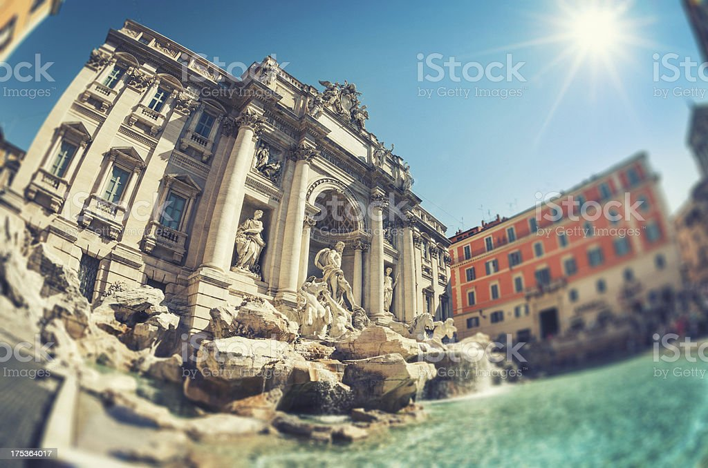 Trvi fountain in Rome royalty-free stock photo