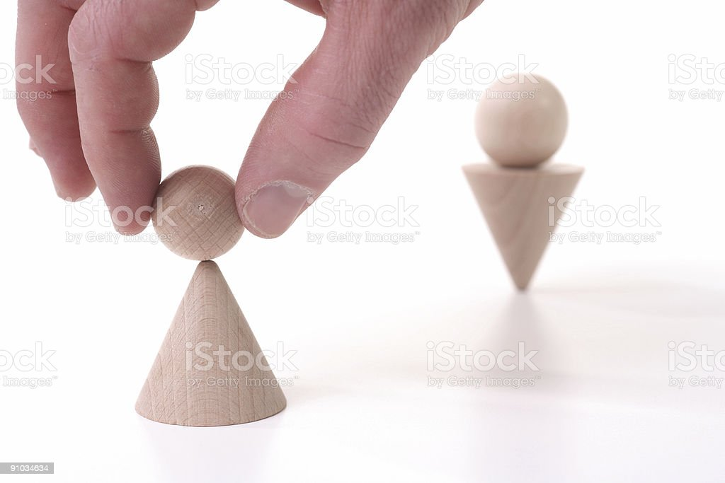 Try impossible things 4 stock photo