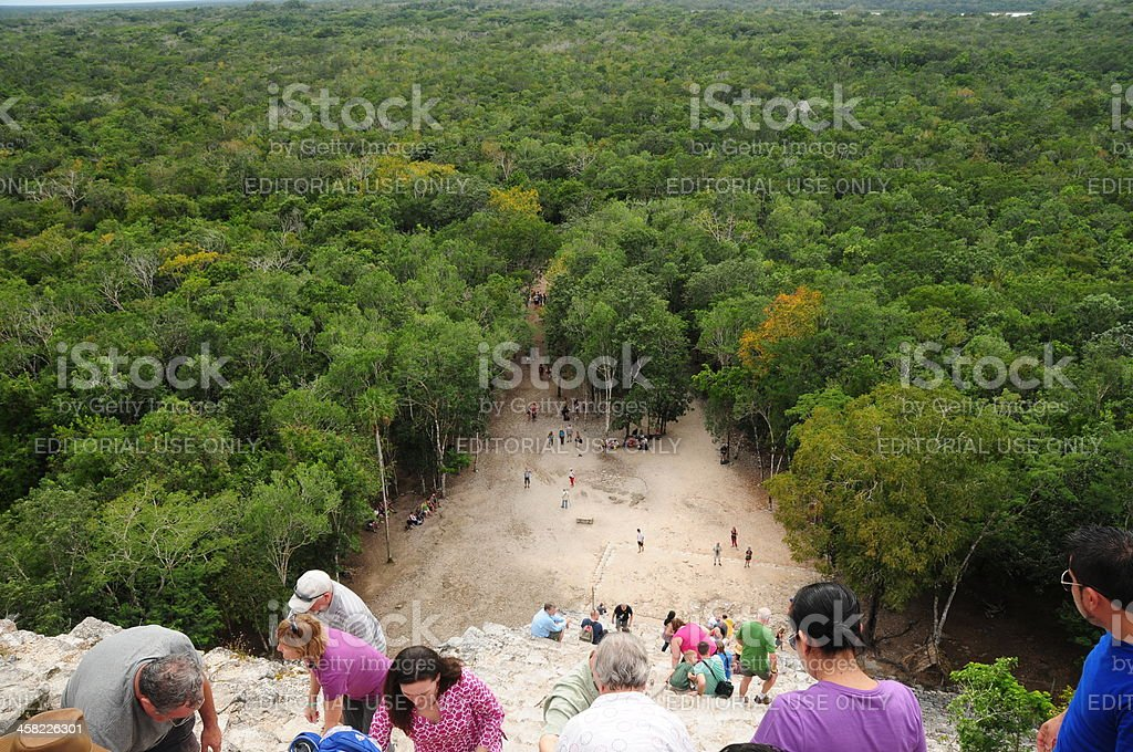 Coba, Mexico. stock photo