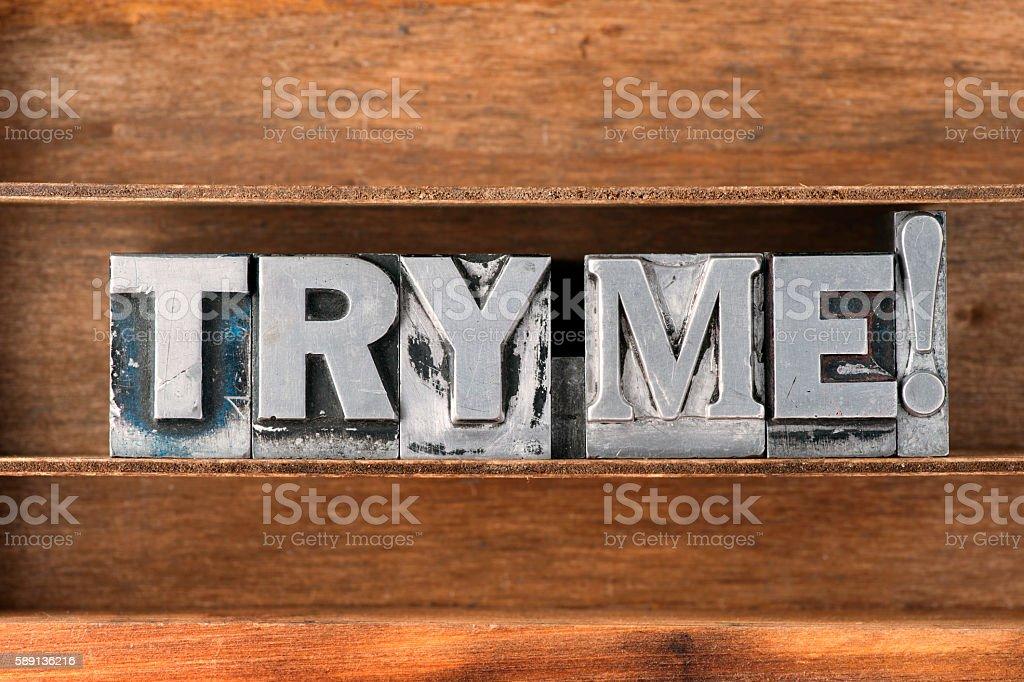 try me tray stock photo