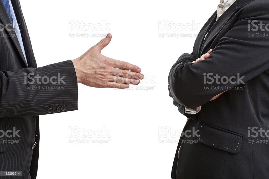Try of handshaking royalty-free stock photo