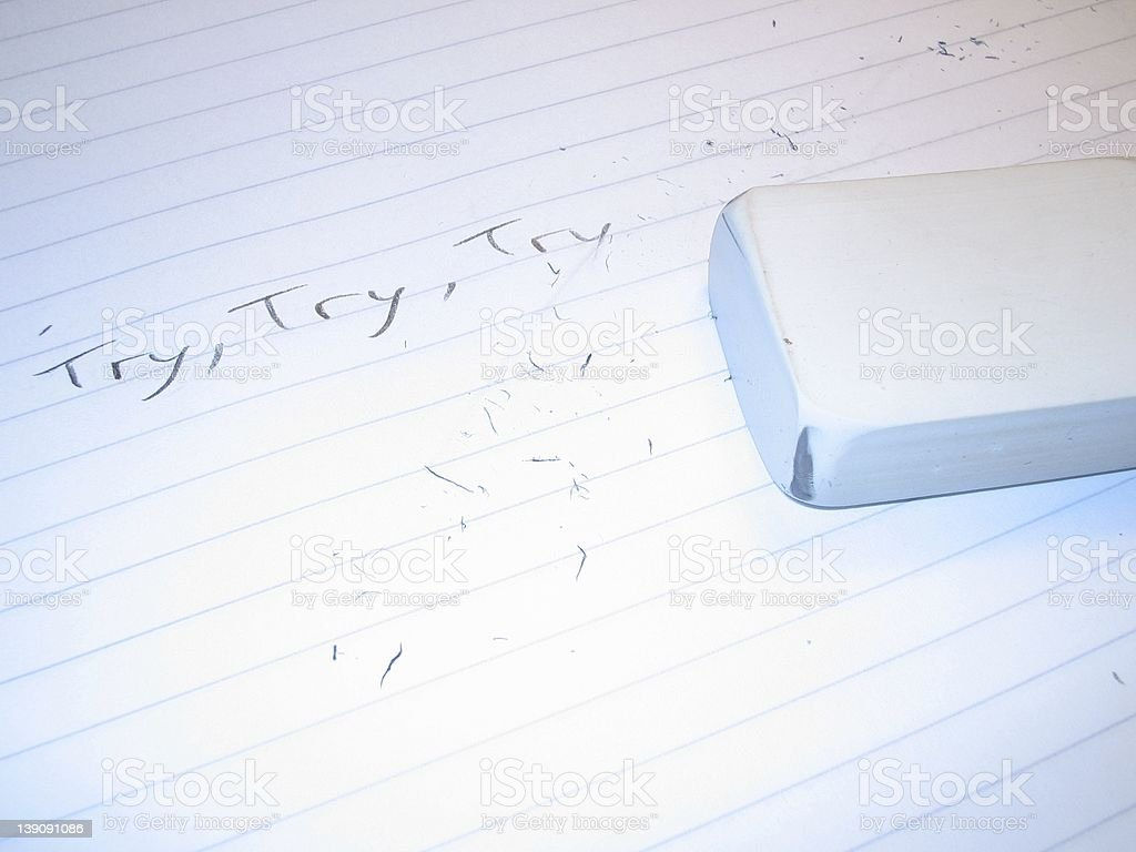 Try, try, try again... royalty-free stock photo