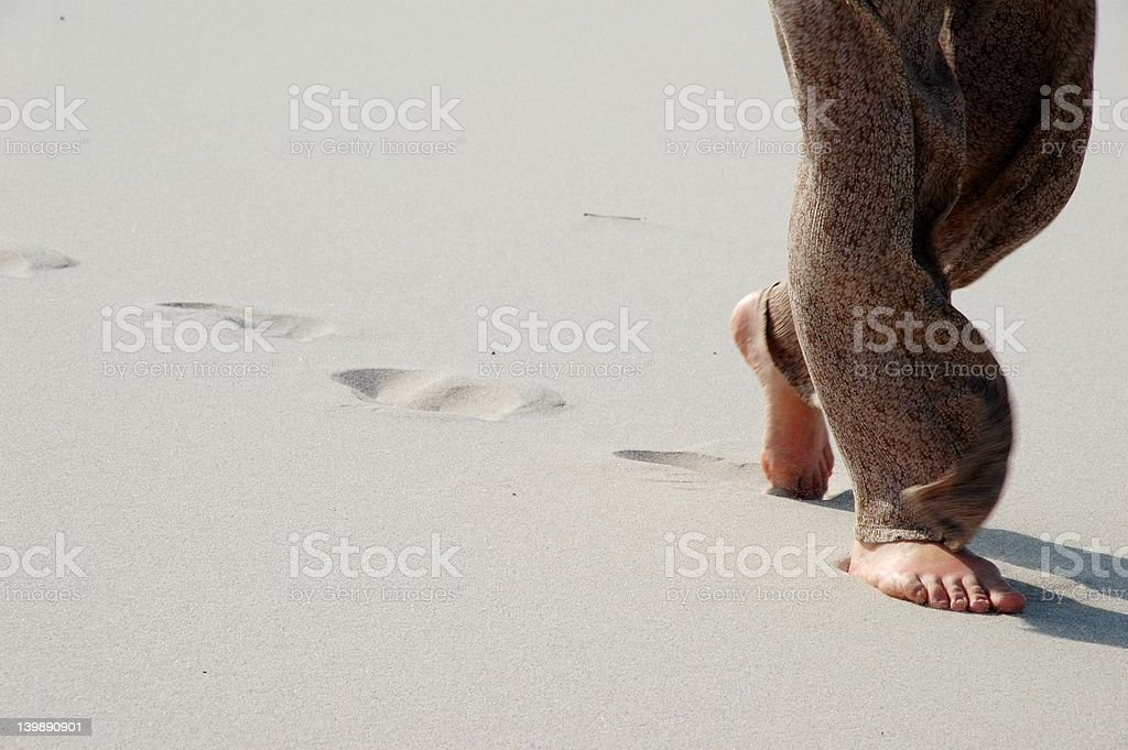 Try walking in the sands royalty-free stock photo