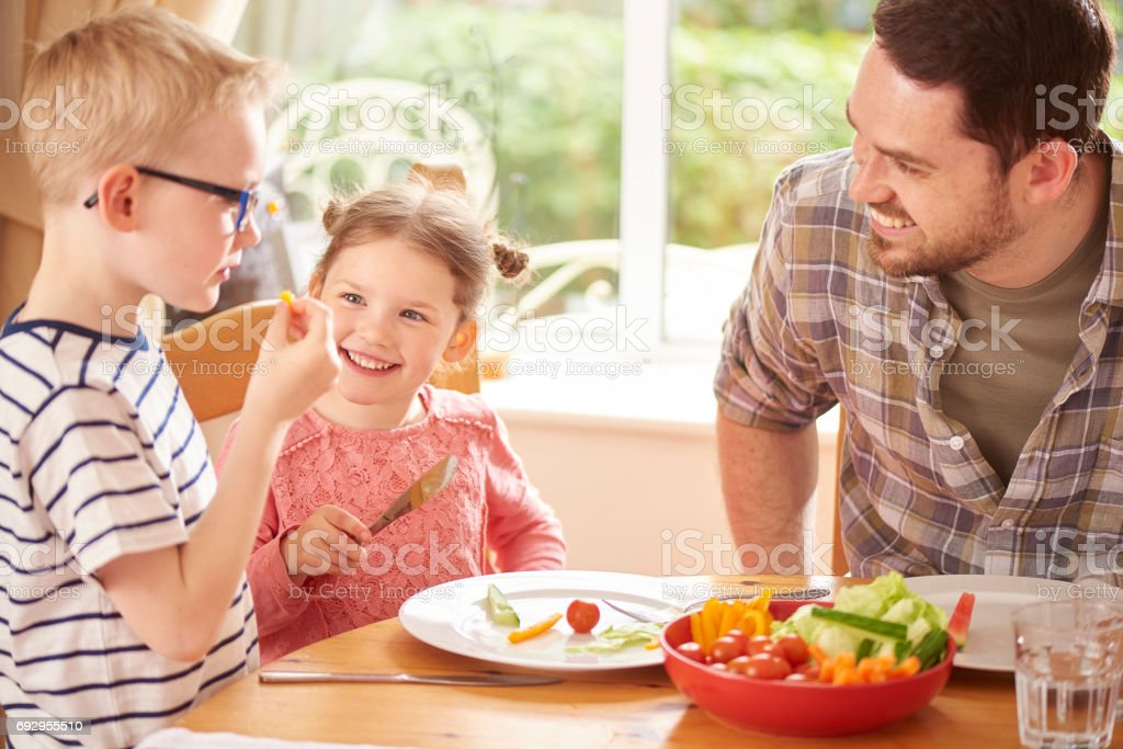 trying new food stock photo