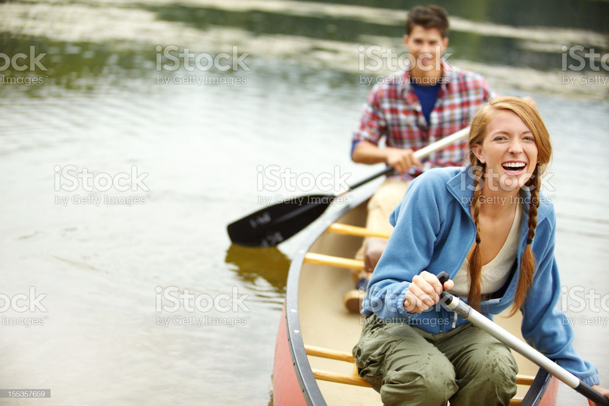 Trying not to rock the boat royalty-free stock photo