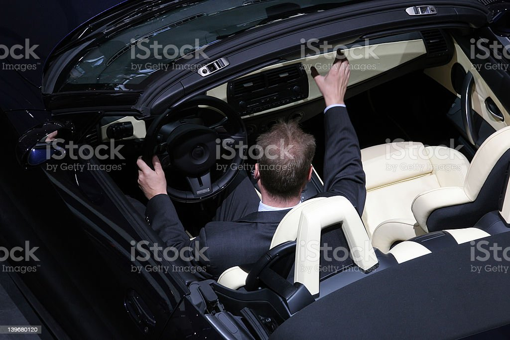 trying out new car royalty-free stock photo