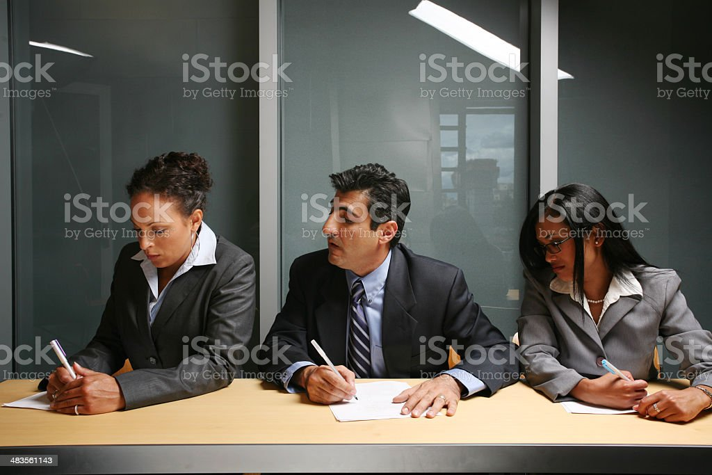 Trying to cheat stock photo