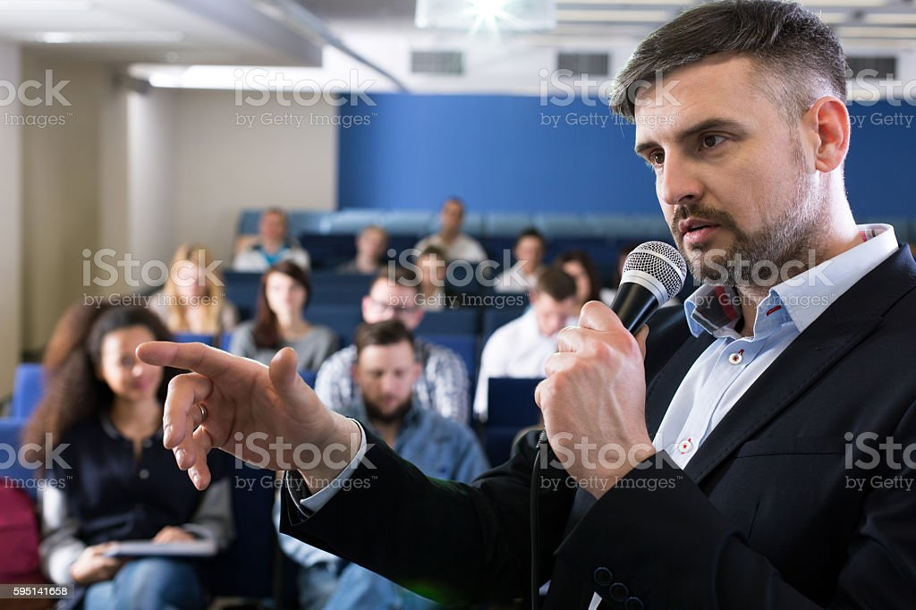 Trying to come up with the simplest explanation stock photo