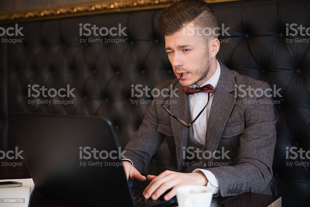 Trying To Concentrate stock photo
