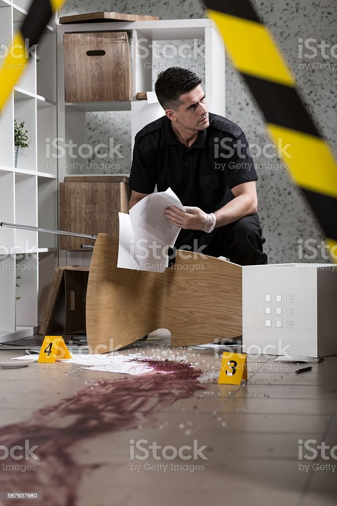 Trying to discover what happened here... stock photo