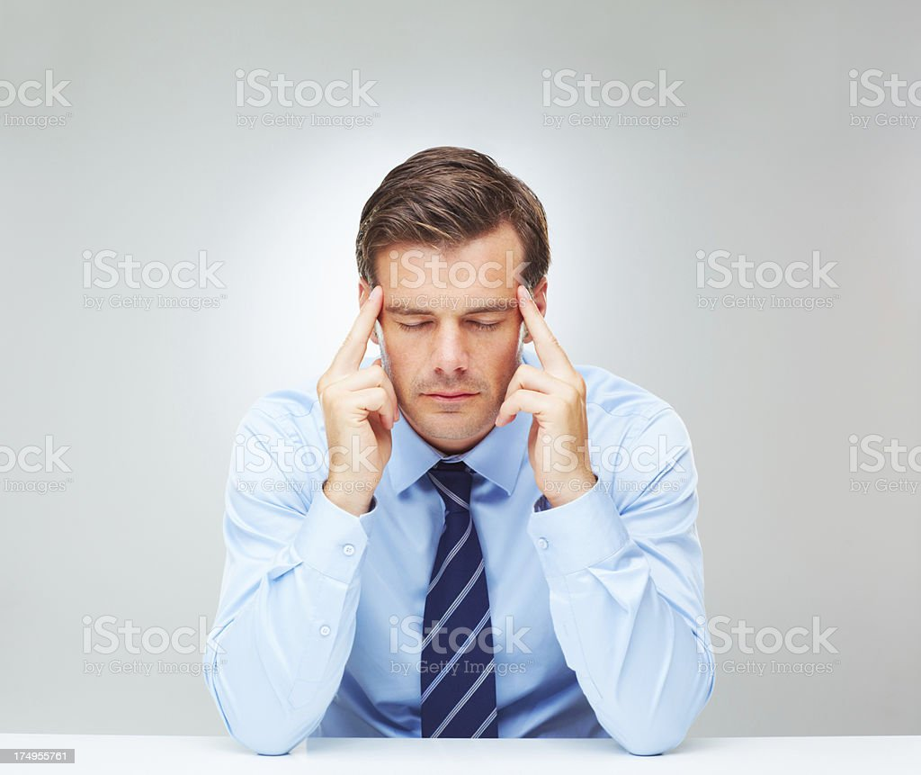 Trying to find his focus royalty-free stock photo