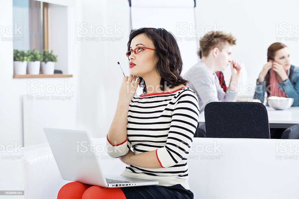 Trying to find solution royalty-free stock photo