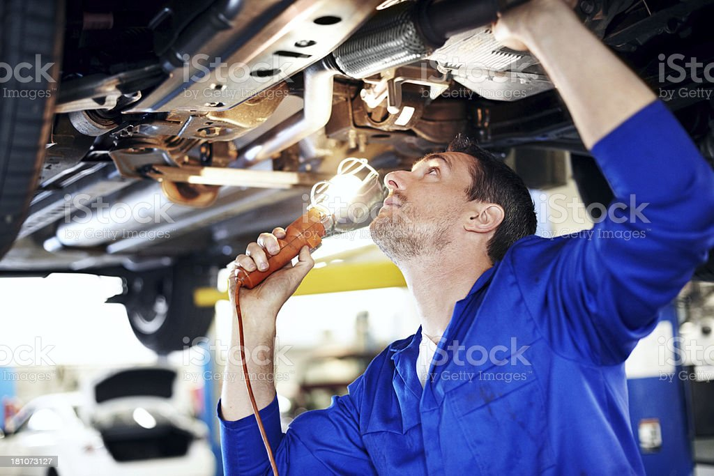Trying to find the problem royalty-free stock photo