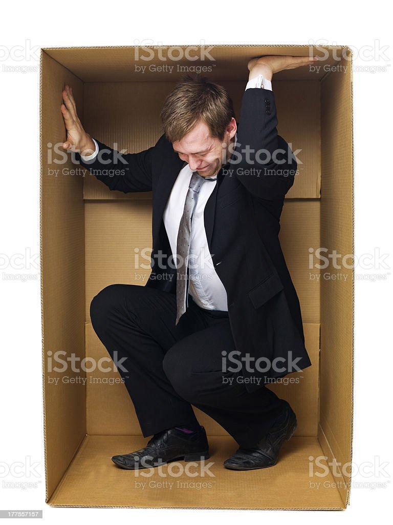 Trying to get out royalty-free stock photo