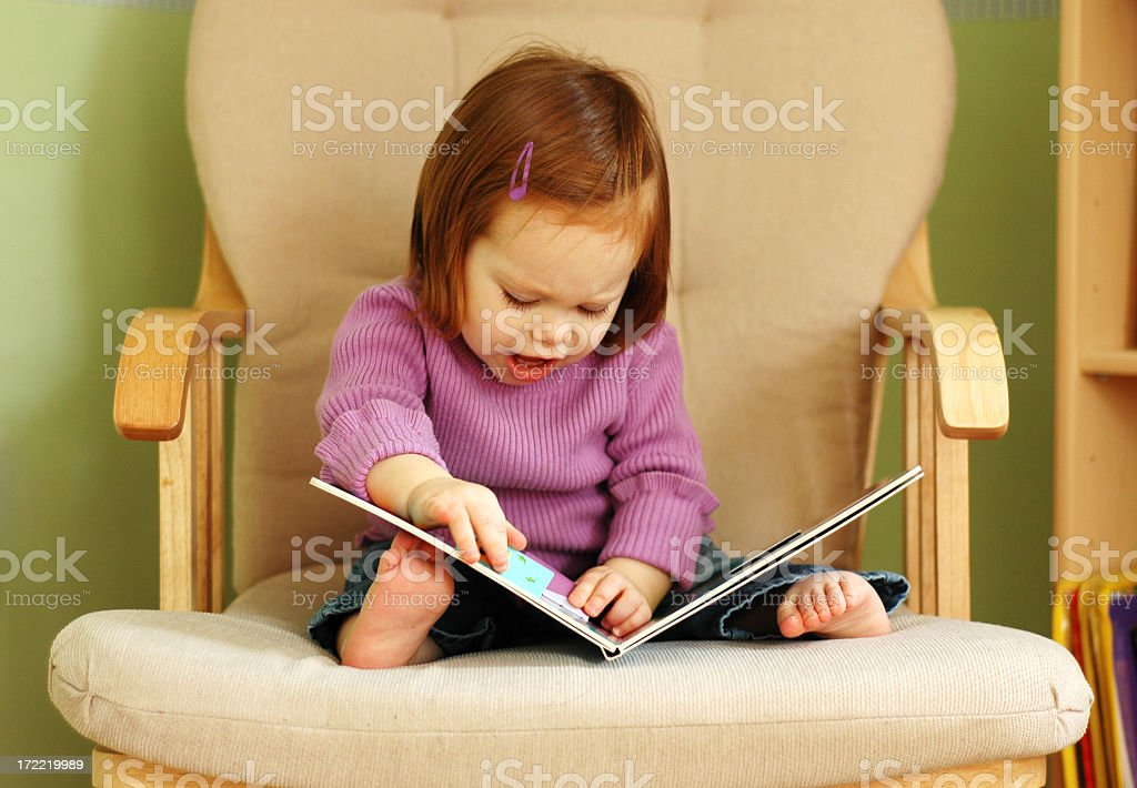Trying to Read royalty-free stock photo
