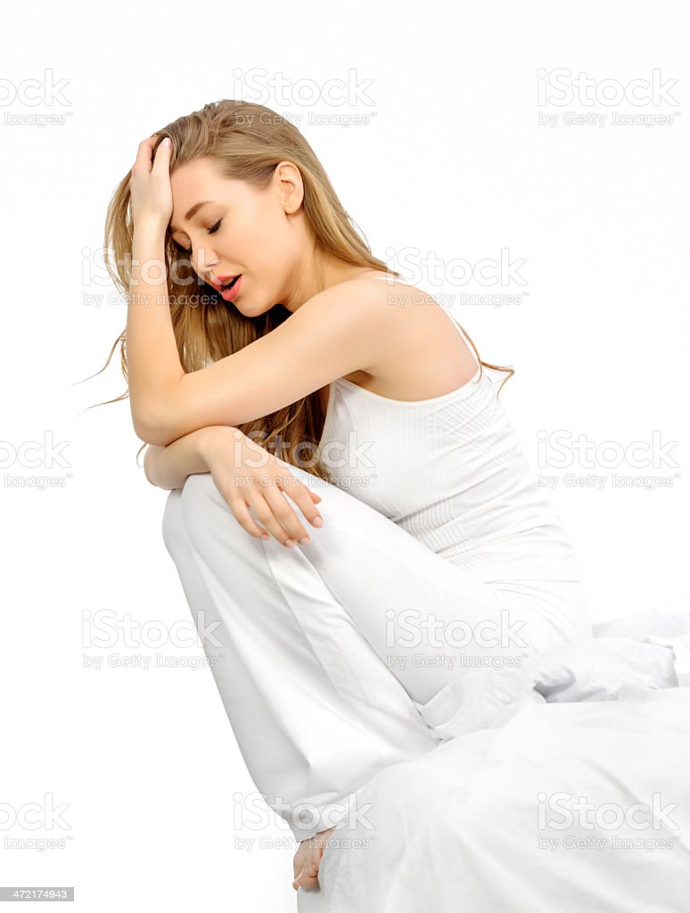 trying to wake up royalty-free stock photo