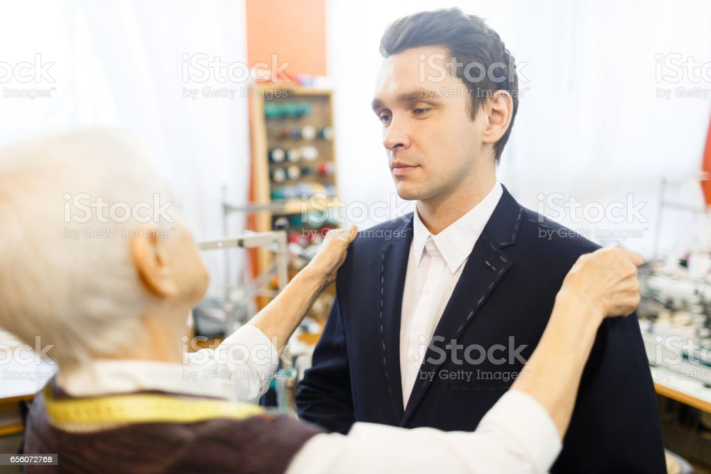Try-on stock photo