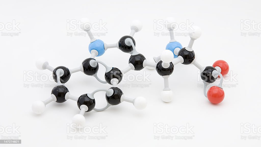 Tryptophan Amino Acid Molecule stock photo