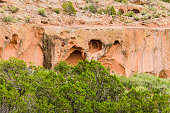 Tsankawi cave dwellings at Bandelier National Monument