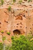 Tsankawi cave dwellings at Bandelier National Monument