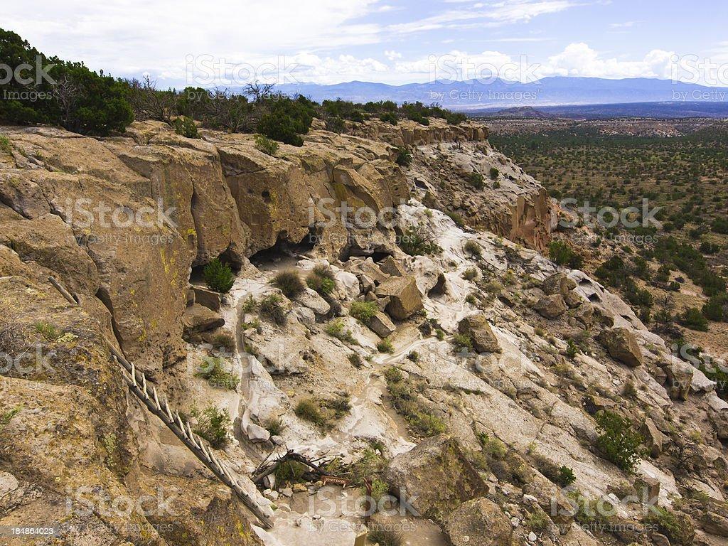 Tsankawi loop trail stock photo