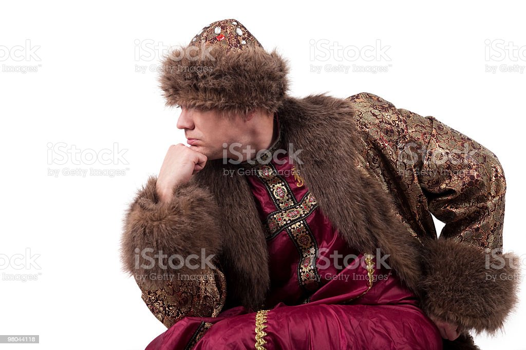 Tsar is  plunged in thought stock photo