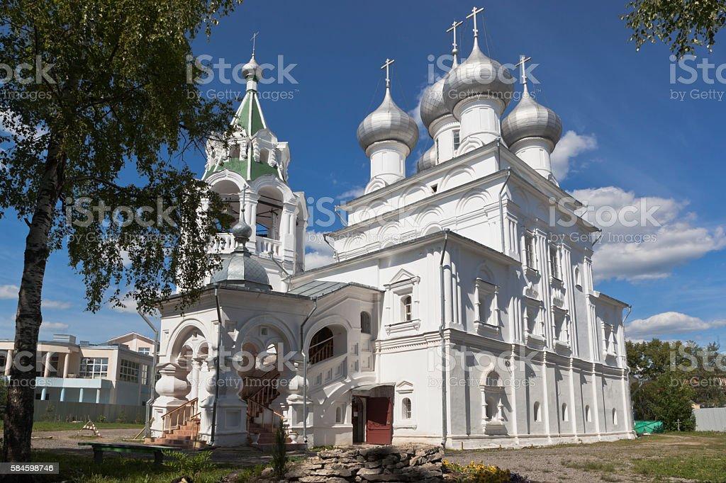 Tsarekonstantinovsky church in the city of Vologda stock photo