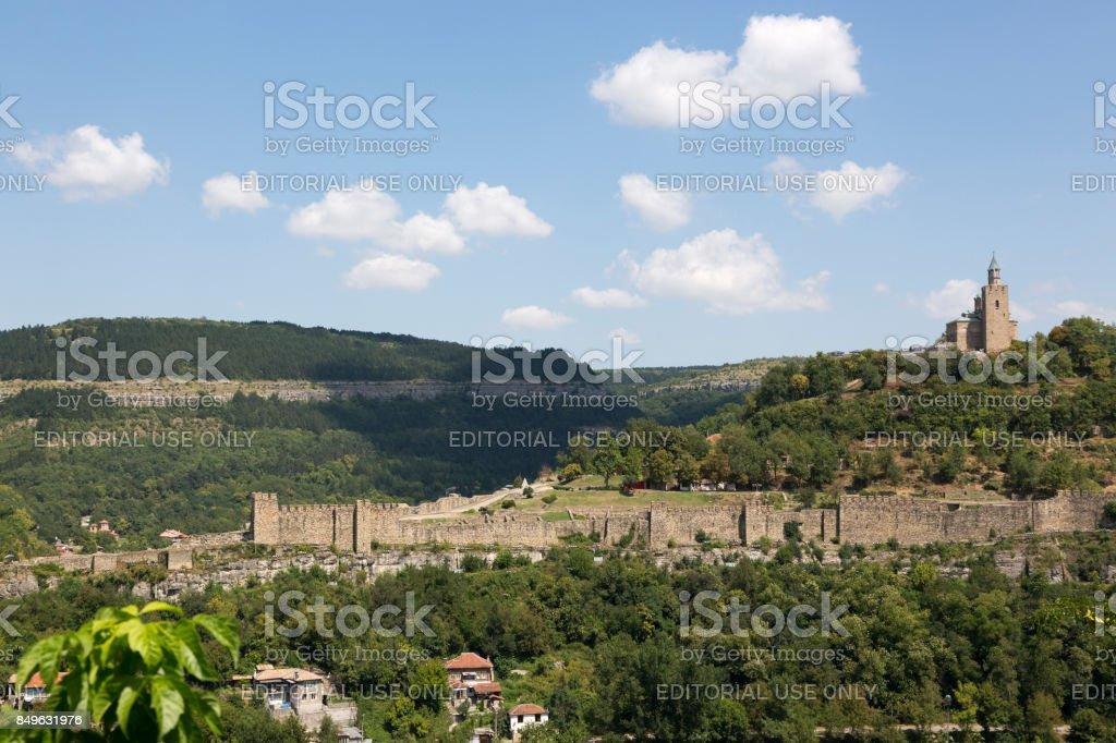 Tsarevets Fortress in Veliko Tarnovo, Bulgaria. stock photo
