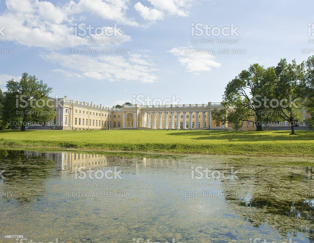 Tsarskoye selo, palace stock photo