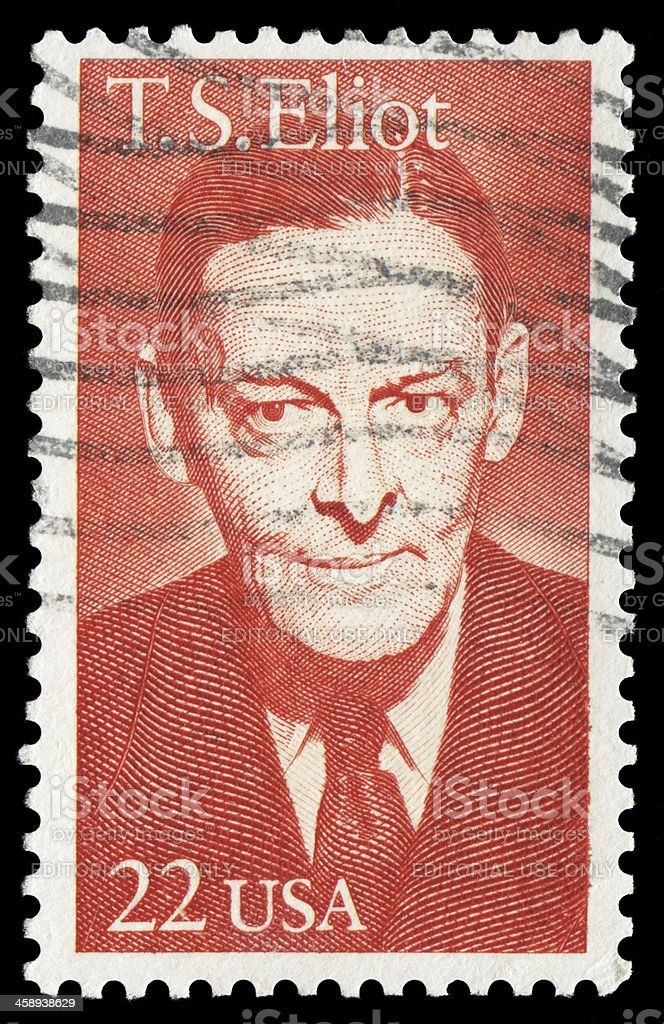 T.S.Eliot stock photo