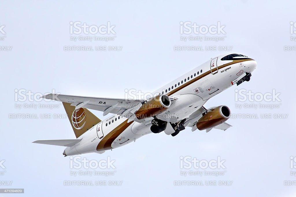 Tsentr-Yug Aviakompania Sukhoi Superjet 100-95B stock photo