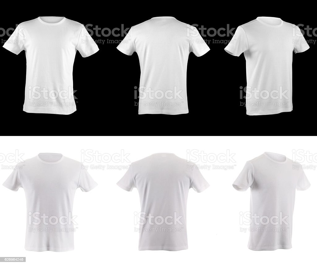 t-shirt collection front side and back stock photo