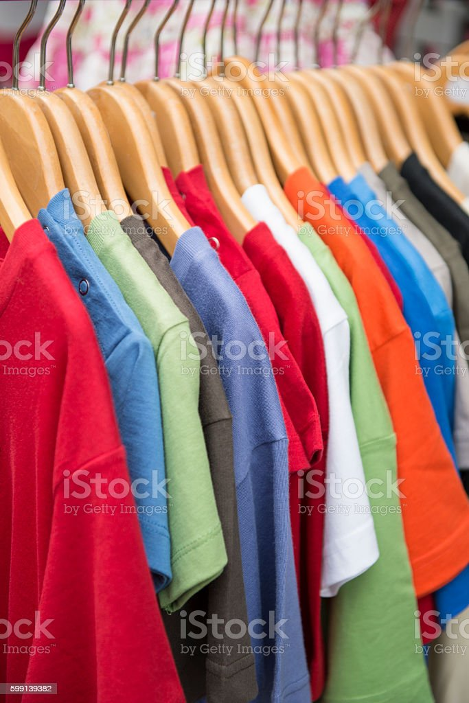 T-shirt color stock photo