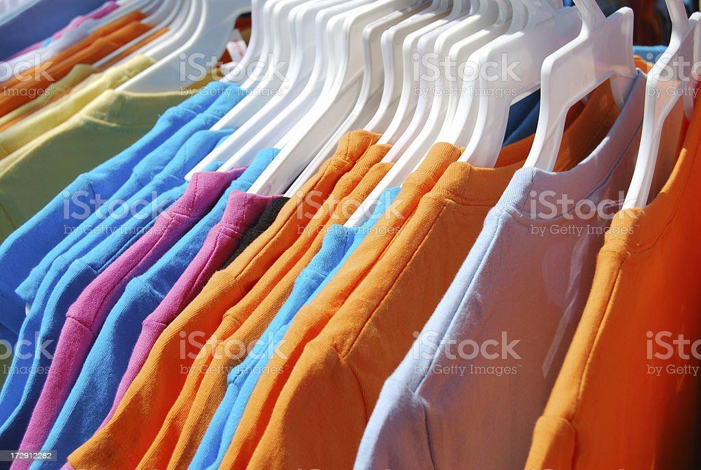T-Shirt Rack royalty-free stock photo