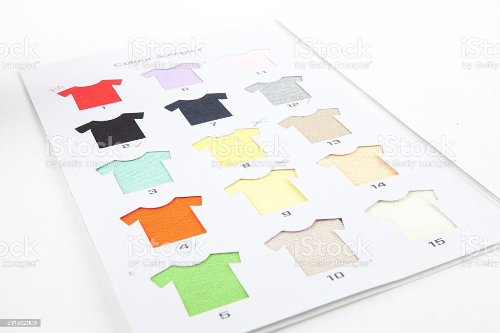 T-shirts samples stock photo