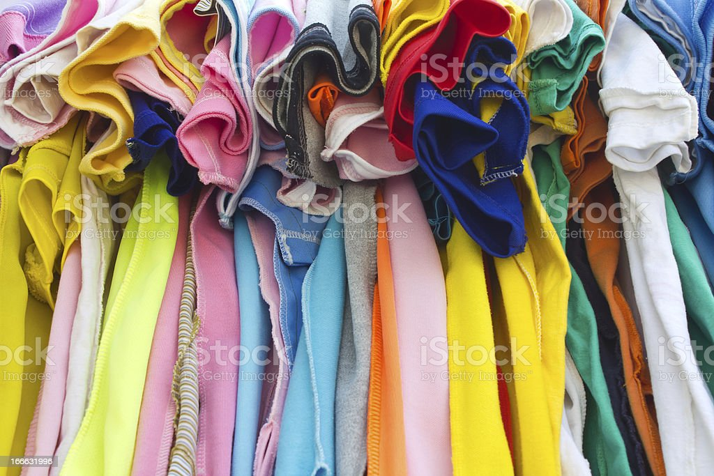 T-shirts with different colors royalty-free stock photo