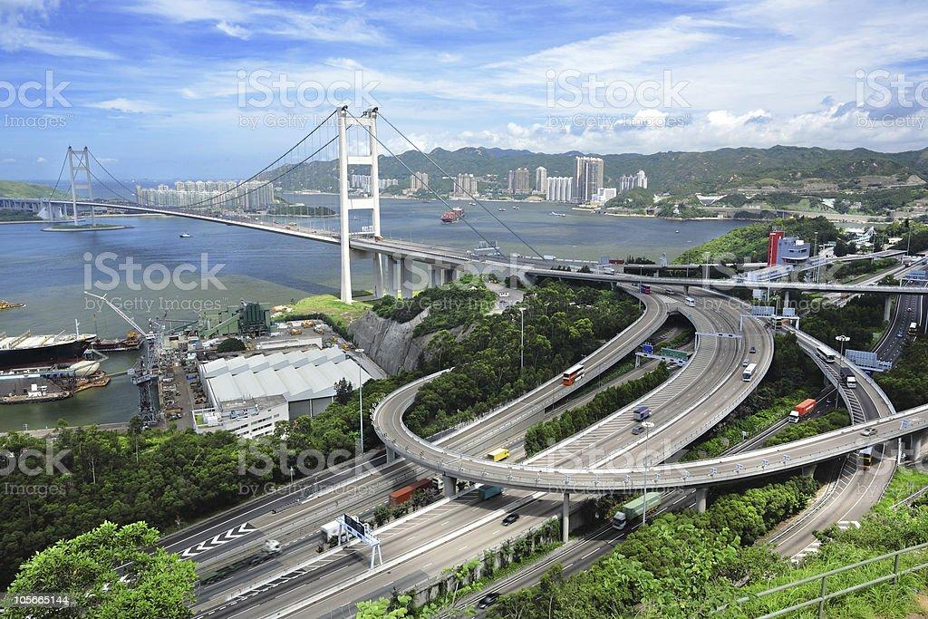 Tsing Ma Bridge royalty-free stock photo